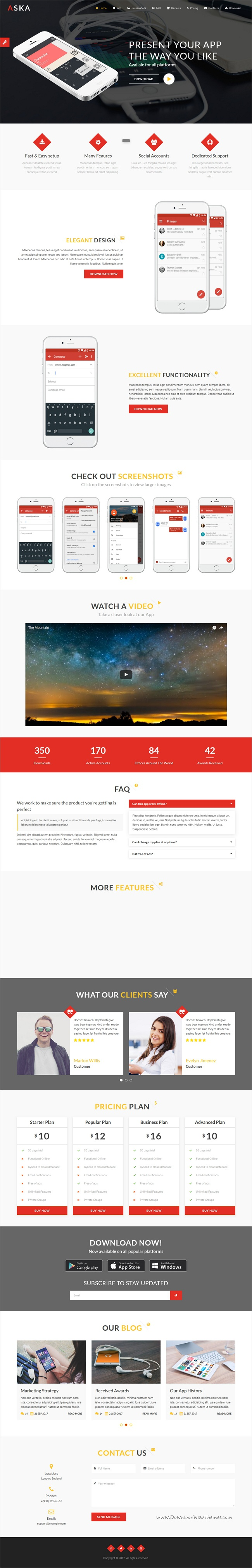 Aska is a clean and elegant design responsive #HTML5 bootstrap ...