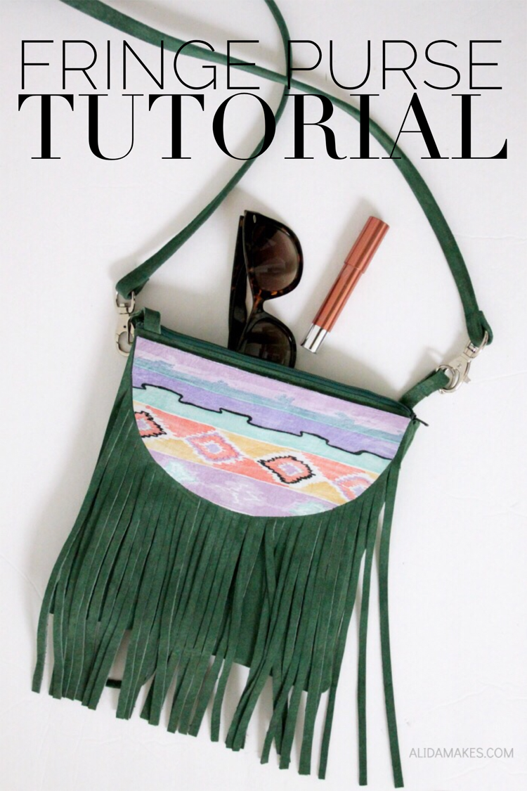 Fringe Purse Tutorial - an awesome sewing DIY by @alida_lee