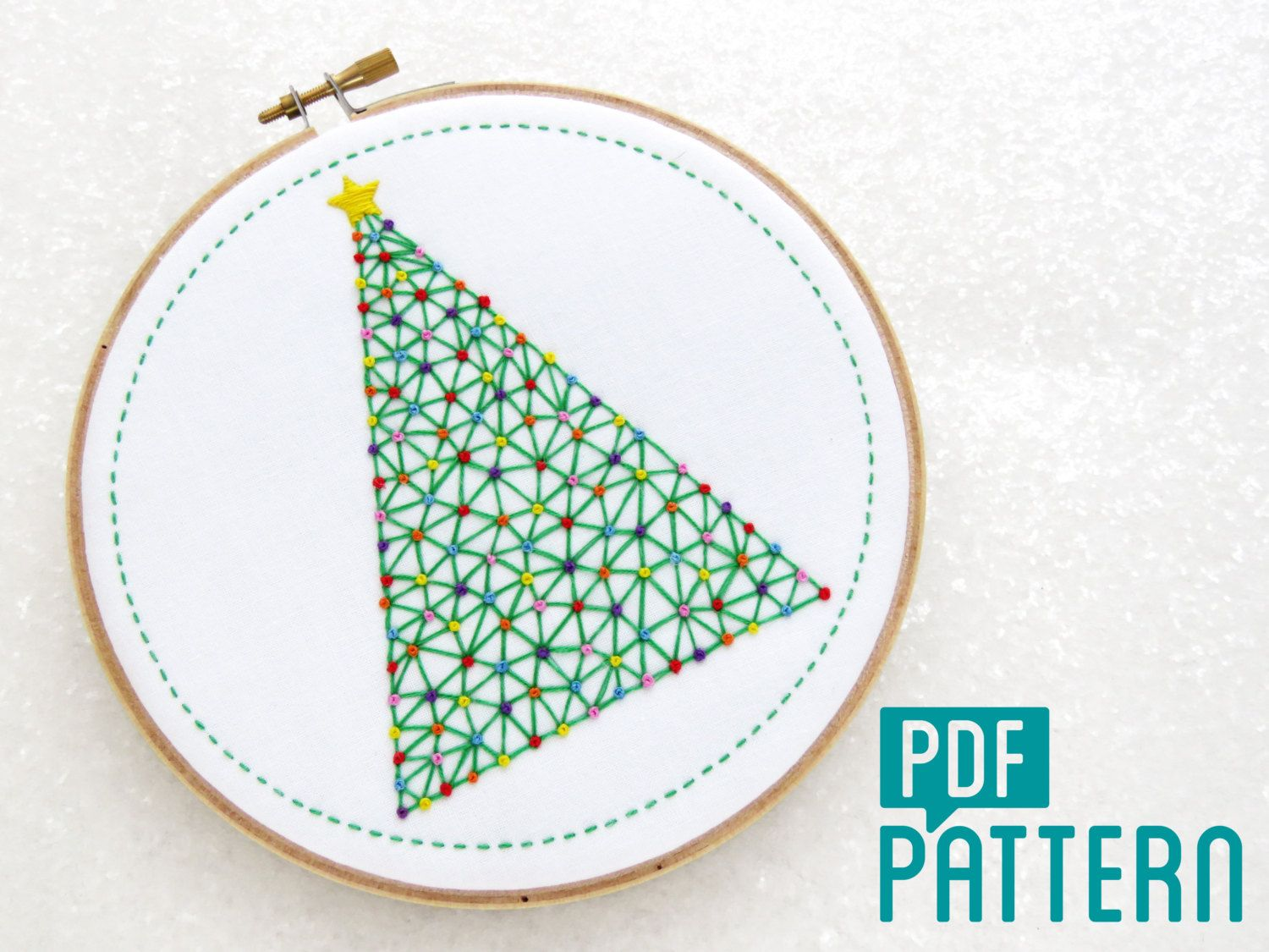 Christmas tree embroidery pattern xmas tree hoop art pattern christmas tree embroidery pattern xmas tree hoop art pattern download geometric needlecraft festive embroidery pdf modern needlework bankloansurffo Choice Image