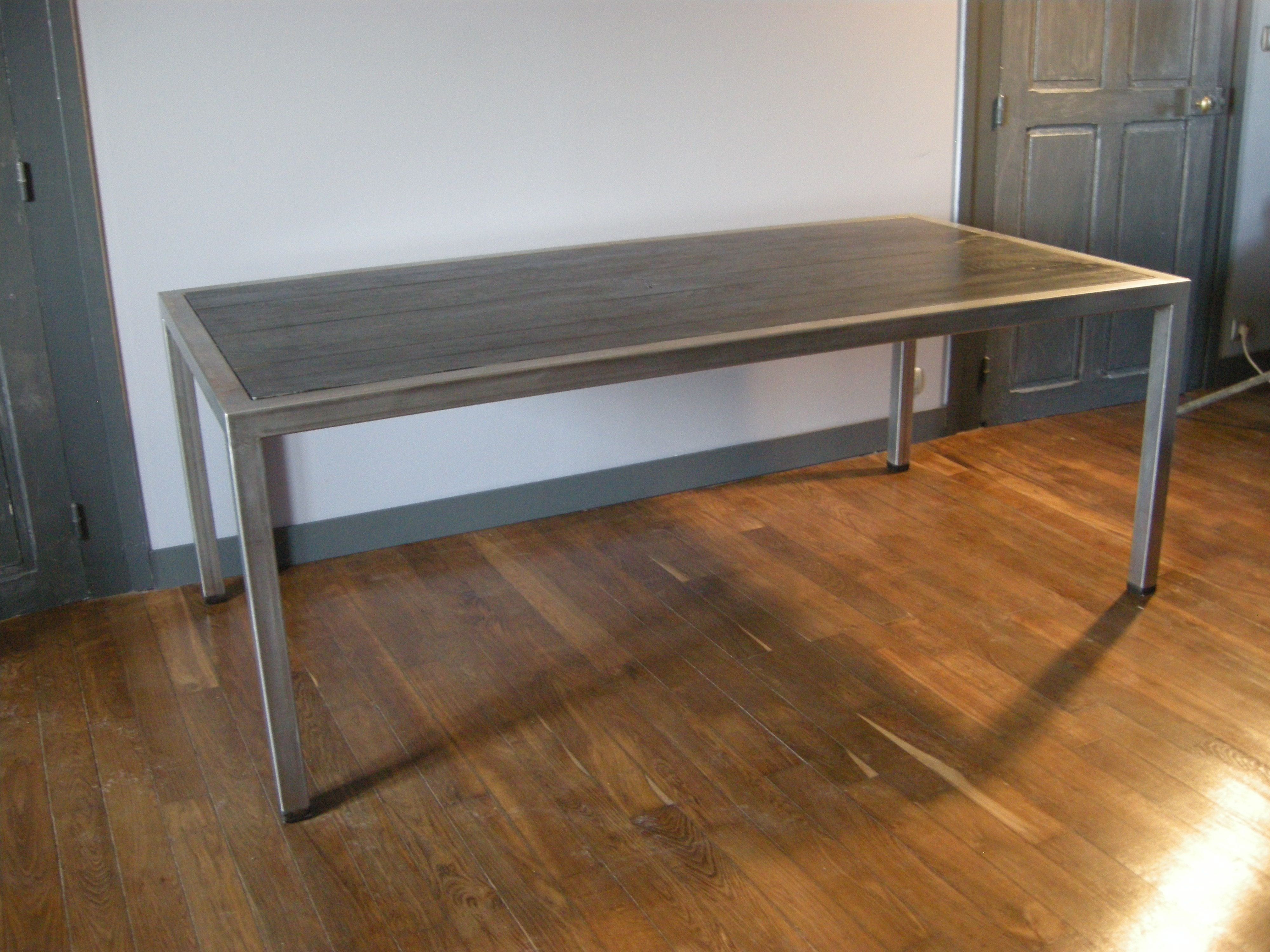 table de salle manger black oak 8 places plateau en chne patin
