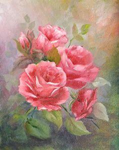 Garden Bouquet by Teddy Jackson Oil ~ 10 x 8