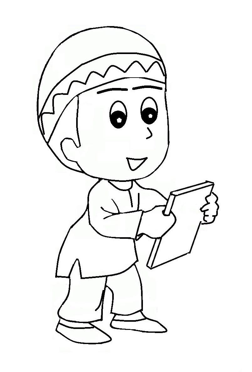 Gambar Mewarnai Islami Untuk Anak Tk : gambar, mewarnai, islami, untuk, Gambar, Mewarnai, Muslim, Warna,, Anak,