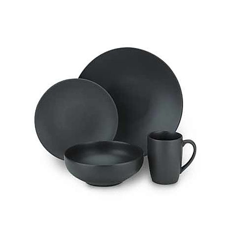 The Black Dinnerware Set from Paradiso is made of sturdy stoneware and features a matte black finish and a coupe shape perfect for casual or formal dining.  sc 1 st  Pinterest & The Paradiso Black Collection is made of sturdy stoneware and ...