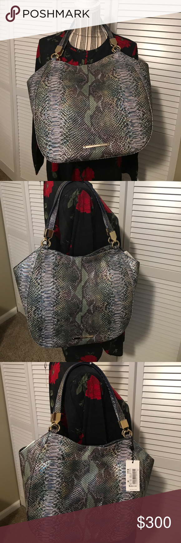 Brahmin bag New with tags Brahmin Marianna Seville moonstone, snake embossed leather bag. Genuine leather .. Authentic, wallet not included in this sale, check out different listing for the wallet. Brahmin Bags