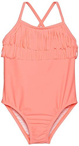 3b0ee1b08d2d2 carters Little Girls Fringed Top One Piece Swimsuit Salmon 5 ** Click on  the image for additional details.