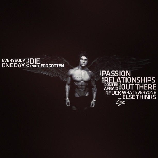 The Hero Zyzz His Most Motivational Quote