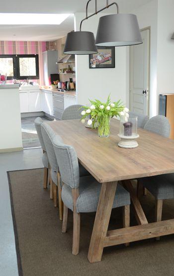 Shooting photo de la table en bois brut nantuket blog - Table cuisine bois brut ...