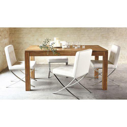 chaise en polyur thane et inox blanche modern