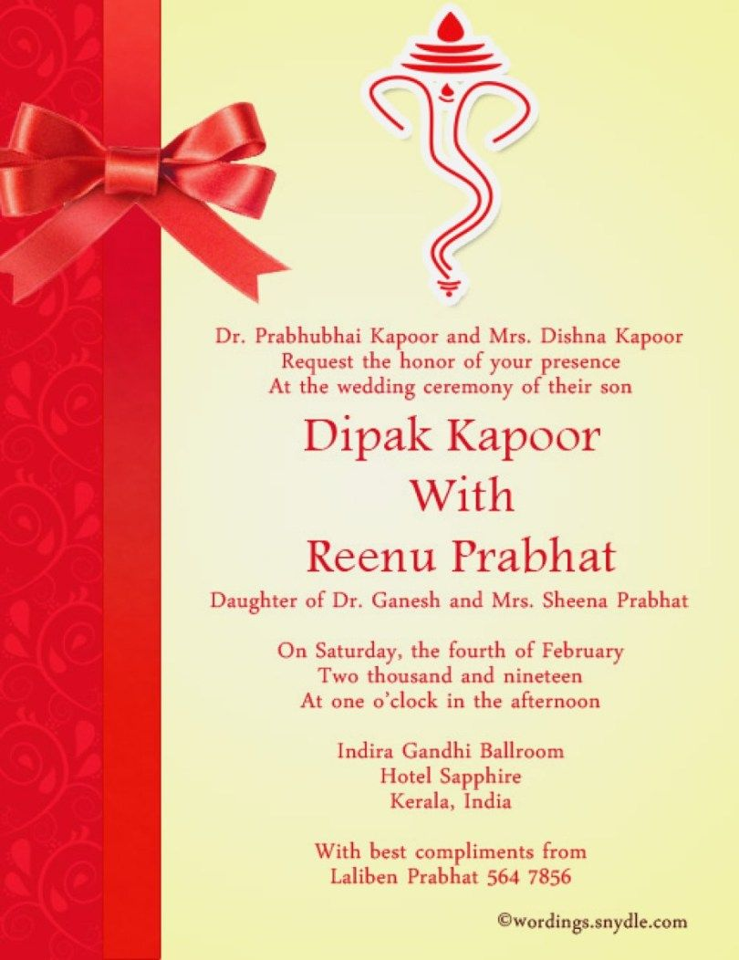 29+ Great Image of Indian Wedding Invitation Wording Indian wedding invitation cards Indian