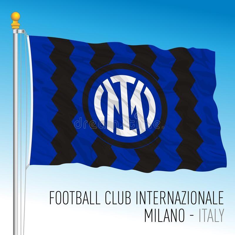 Internazionale International Football Club Flag With New Brand Logo 2021 Design Milan Italy March 2021 In In 2021 International Football Football Club Brand Logo