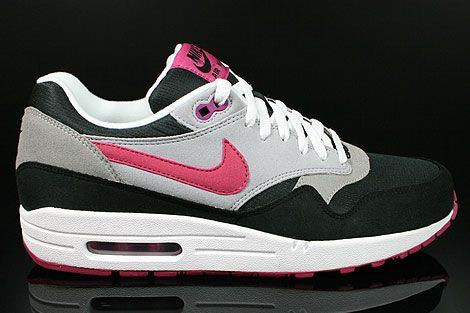 Nike WMNS Air Max 1 Black Rave Pink Wolf Grey 135.00