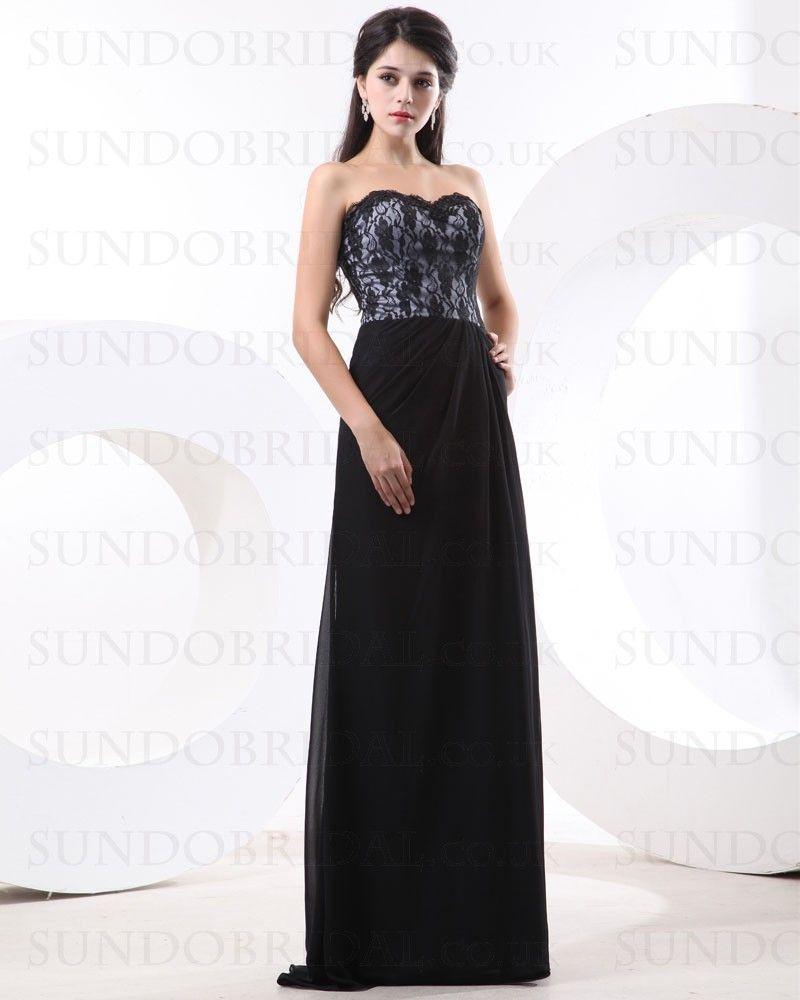 Black Sweetheart Chiffon Dress