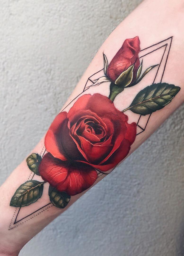 Jaw Dropping Rose Tattoo C Tattoo Artist Pony Wave Beautifultattoos Rose Tattoo Design Rose Tattoos Cool Tattoos For Guys