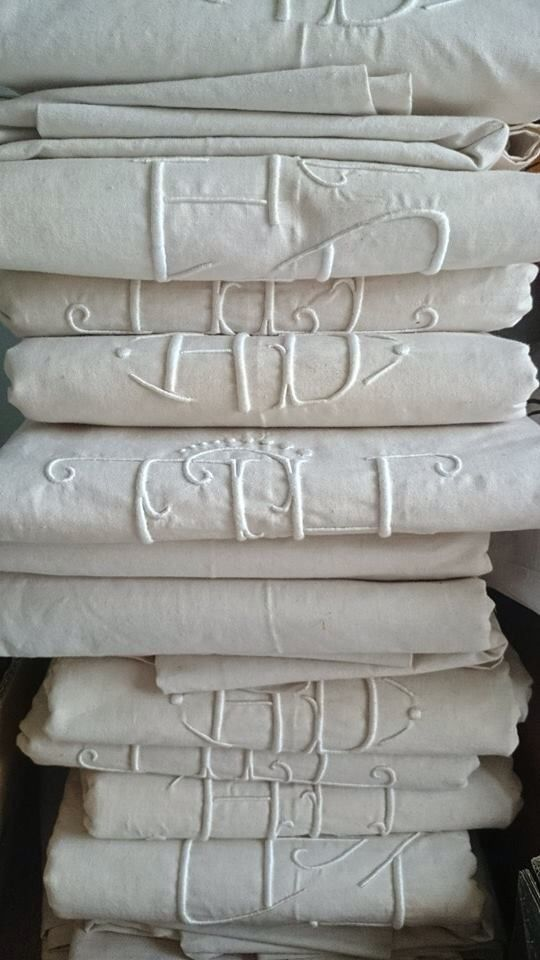 monogrammed linens