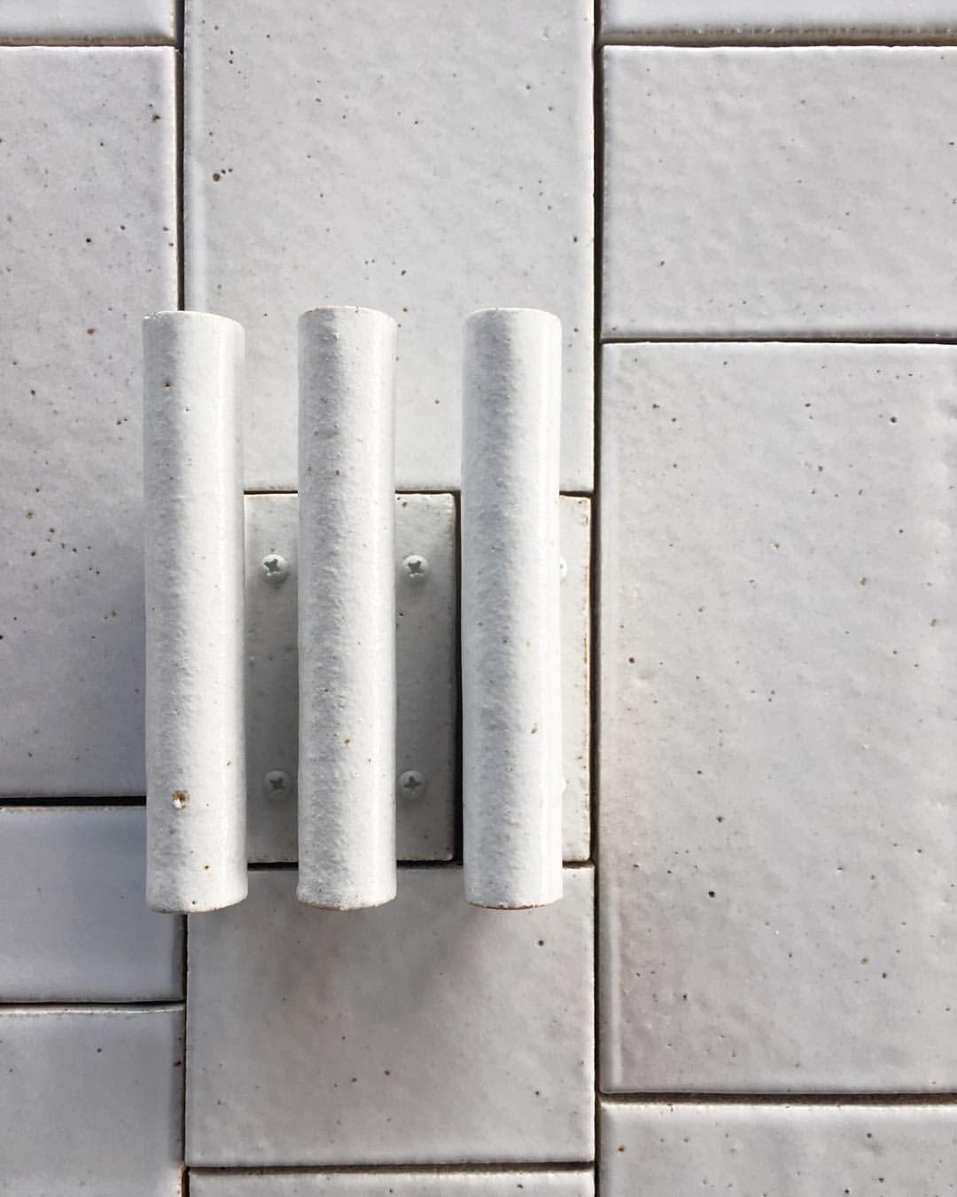 Anchor Ceramics Anchorceramics On Instagram 12420 Wall Hook Meets 100 Series Tile In Spe Ceramic Tile Bathrooms Handmade Tiles Ceramic Tile Floor Bathroom