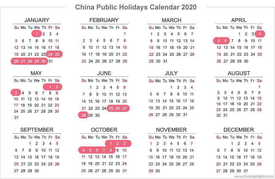 Chinese Holidays Holiday Calendar School Holiday Calendar Calendar