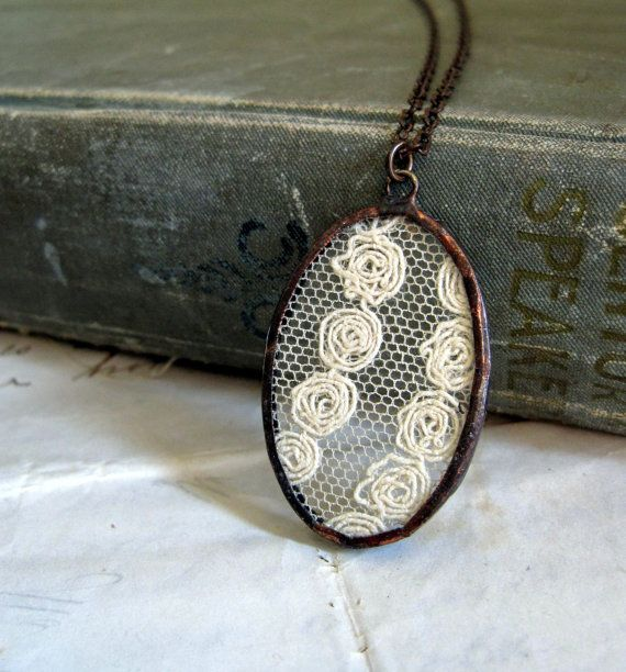 another way to wear lace around your neck....