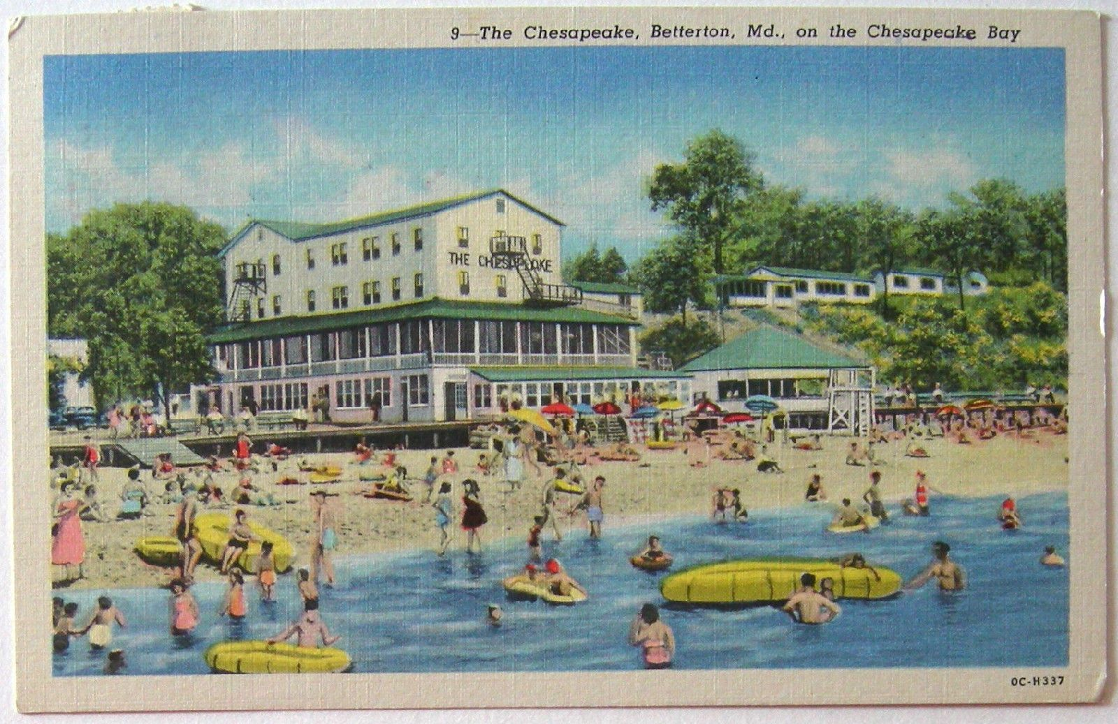 Postcard The Chesapeake Betterton Md Bay Hotel Linen