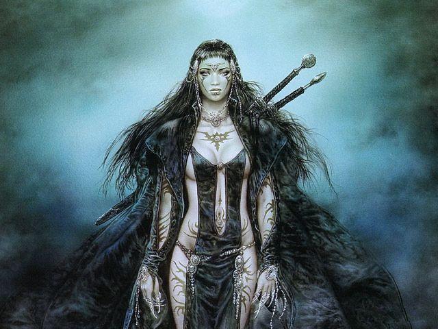 Black Amazon Female Warriors  Drawn,Fantasy,People,Girl -6246