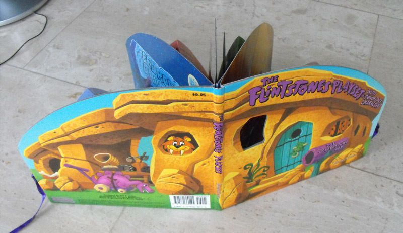 RARE HANNA BARBERA  The Flintstones Playset with punch-out characters 1994 MINT    eBay