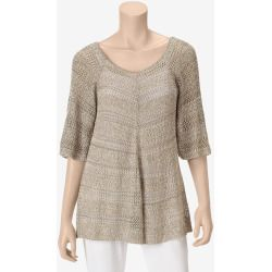MI-136503-B3A268-A%3F%24zm%24 Best Deal It's Our Time Tan Open Weave Pullover Sweater  Misses  Black  M  US Sweaters