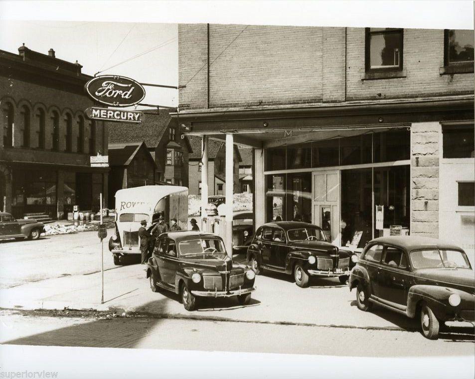 Ford Mercury Automobile Dealership Calumet Michigan 1940's
