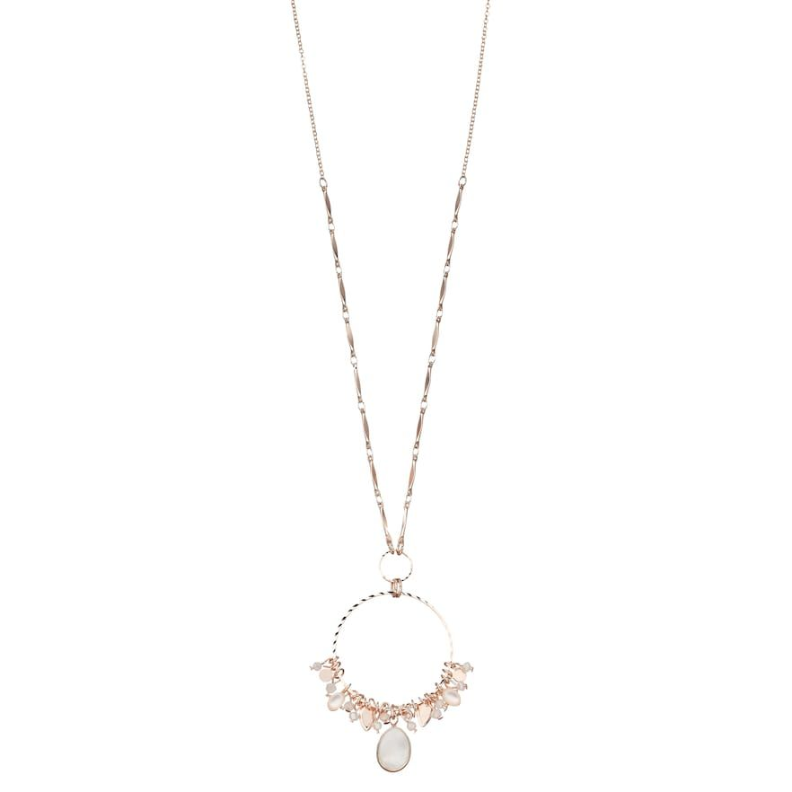 a23b34fd2 LC Lauren Conrad Mother-of-Pearl Charm Pendant Necklace, Women's, White