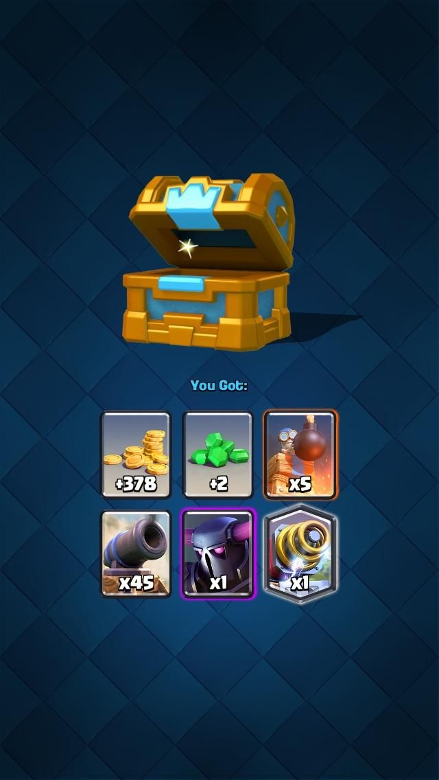Not a bad chest for Clash Royale I usually get terrible chests.