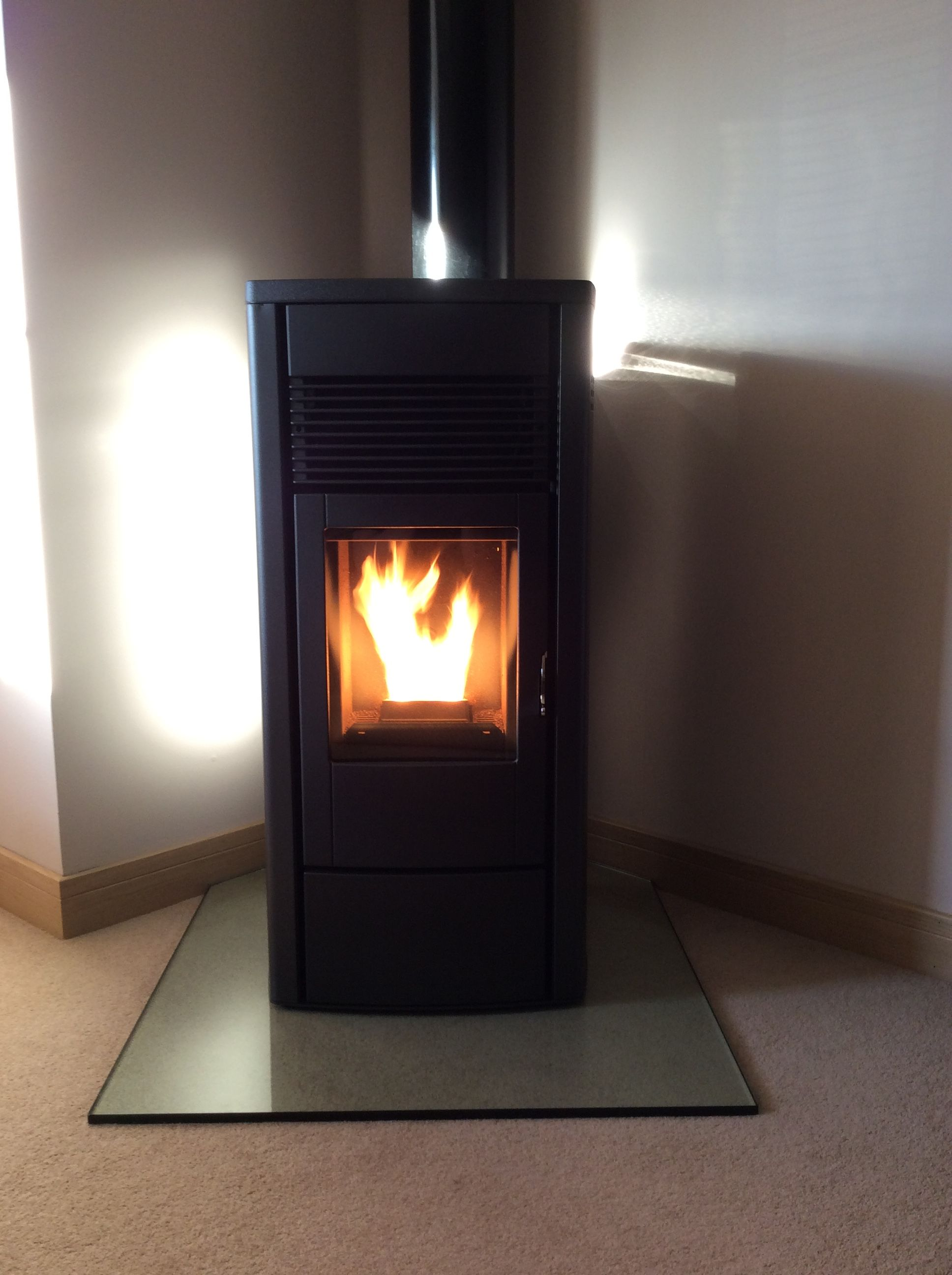 Glass fireplace hearth panels. Toughened glass hearth protectors ...