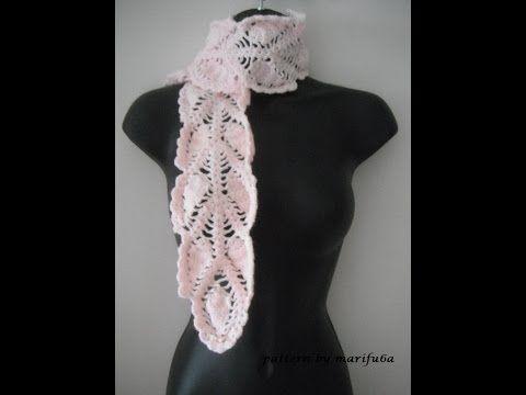 Crochet : Bufanda de Piñas. Parte 1 de 2 - YouTube | ganchillo ...
