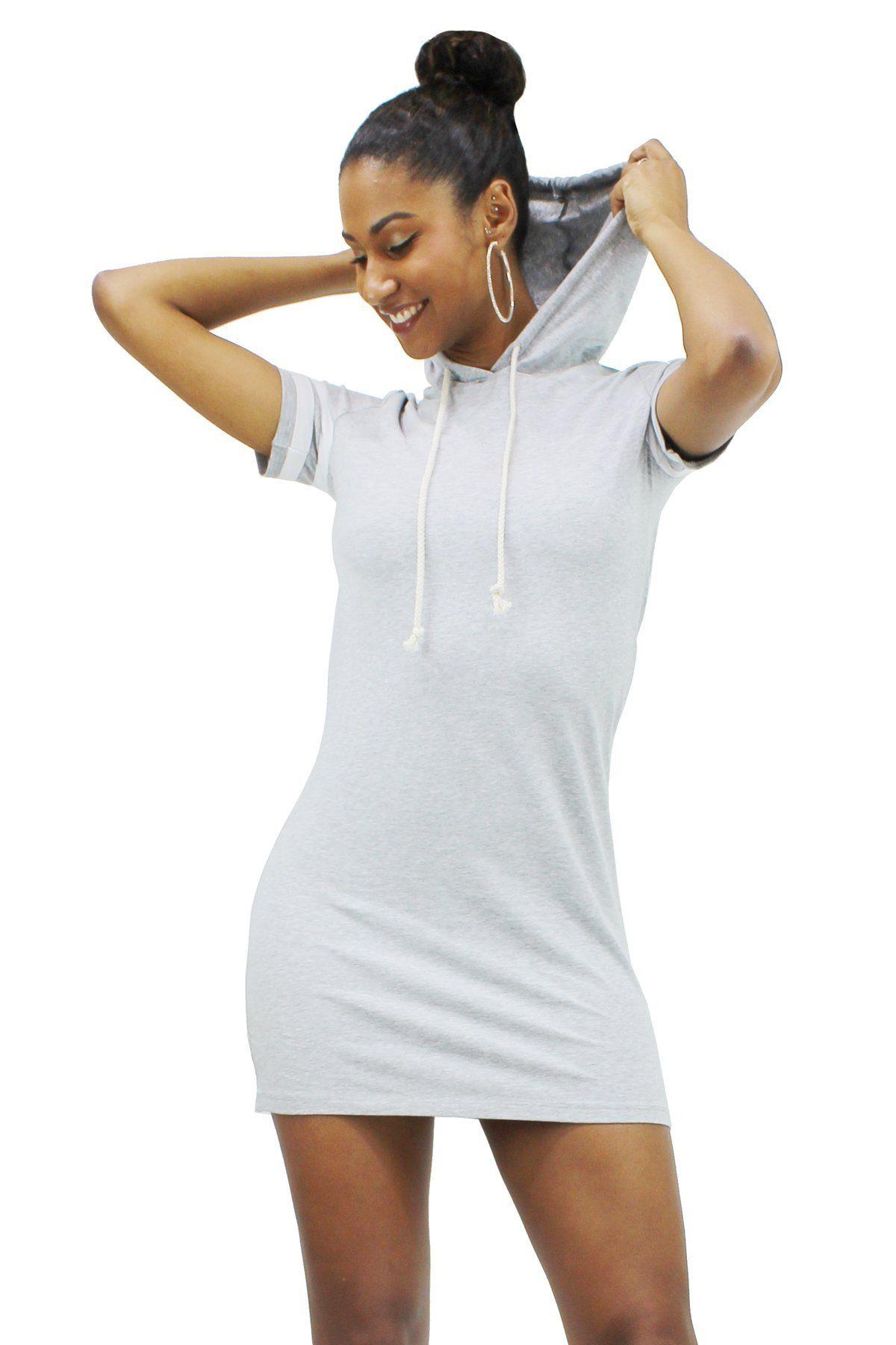 11044ece4b Drawstring hoodie casual striped short sleeve mini dress amb ddf jpg  1200x1800 Ddf dress