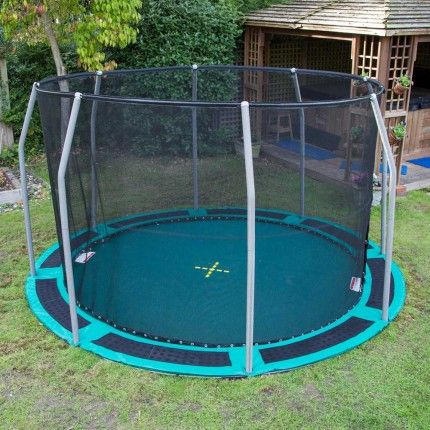 in ground trampoline with enclosure google search back yard dreaming pinterest ground. Black Bedroom Furniture Sets. Home Design Ideas