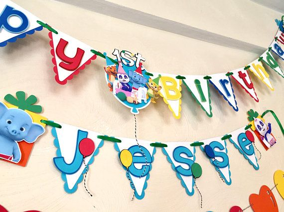 word party happy birthday and name banner word party happy birthday