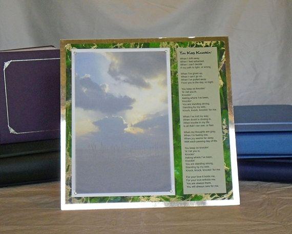 Original 12 X 12 Mixed Media Faith Artwork and Poetry