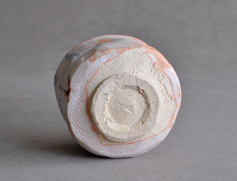 Japanese Shino tea bowl by Ryoji Hayashi 2