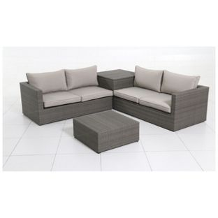 Buy rattan 4 seater garden corner sofa and table set at for Sofa table argos