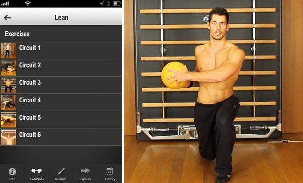 Male model David Gandy launches fitness app