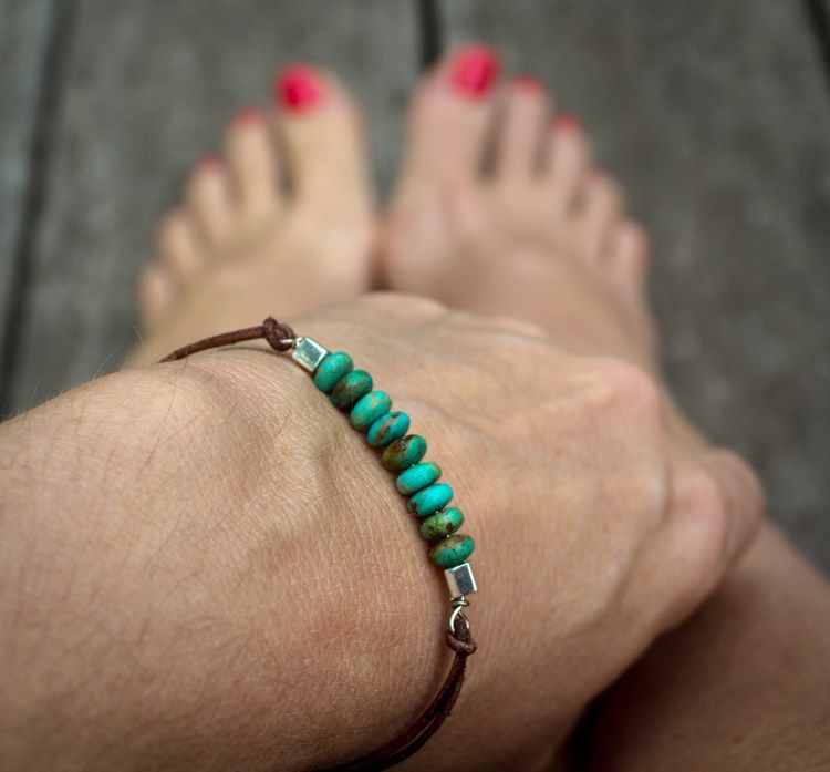 Beaded Leather Wristlet – How to Make a Wire Wrap Loop
