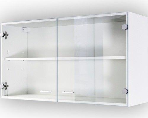 Glas Hängeschrank Badschrank Unterschrank Weiß Schrank Küchenschrank
