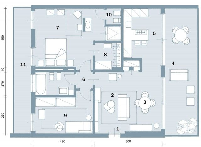 In meno di 100 mq una casa moderna con geometrie a 3 for Planimetria di una casa