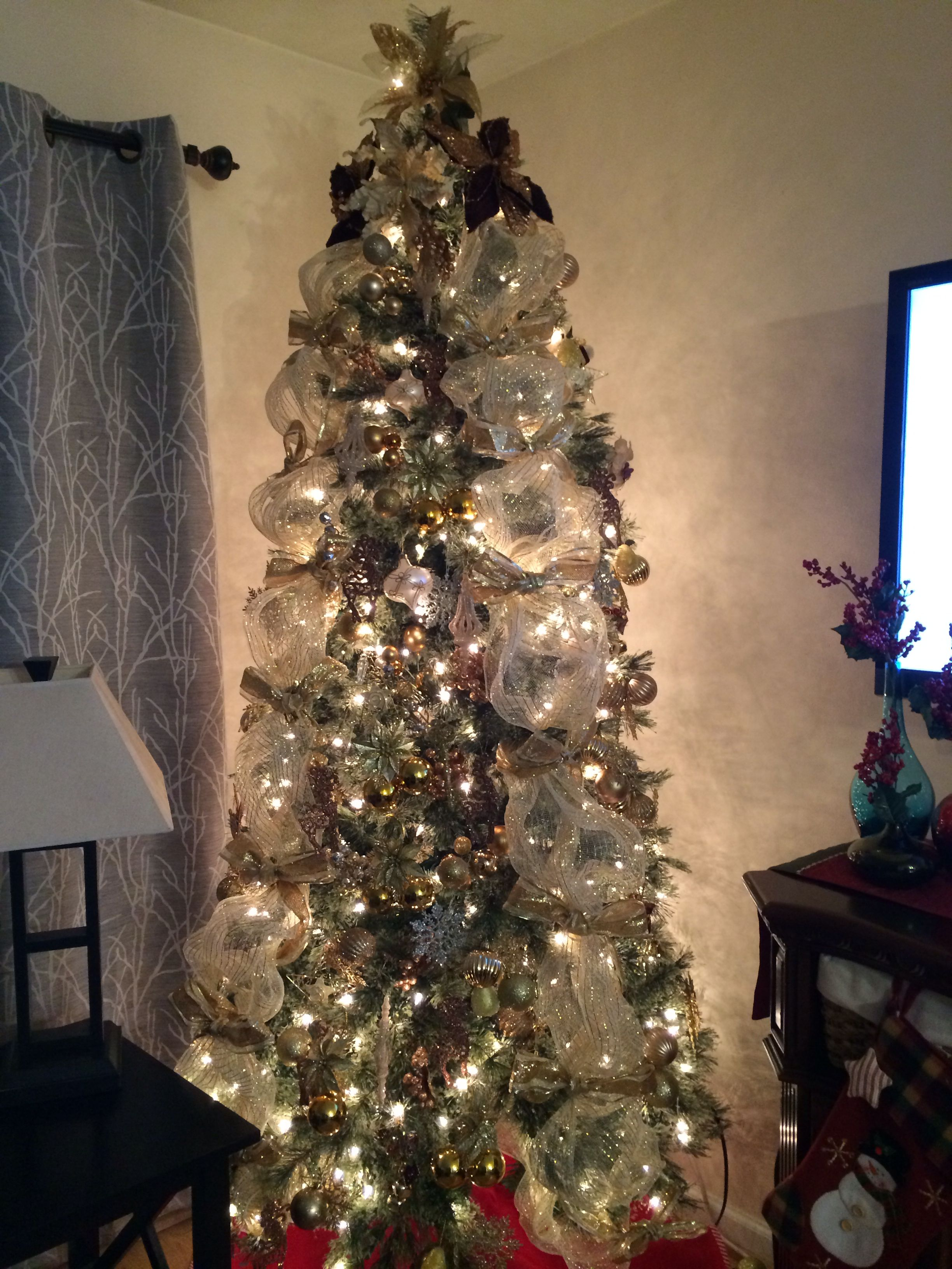 Our Christmas Tree for this year 2014.. #white&goldtheme