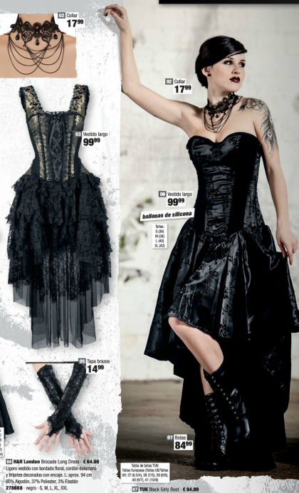f4c5a5784 Ropa Gótica  Goth  Gotico  Gothic vestido largo EMP Online España Catálogo  Verano 2014 • Tienda Rock Heavy Metal Gótica y Ropa Alternativa    emp.me 6mn ...