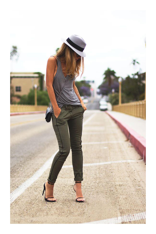 Como Combinar El Color Verde Militar Tizkka Pantalon Verde Militar Mujer Pantalon Verde Militar Combinar Falda Verde Militar