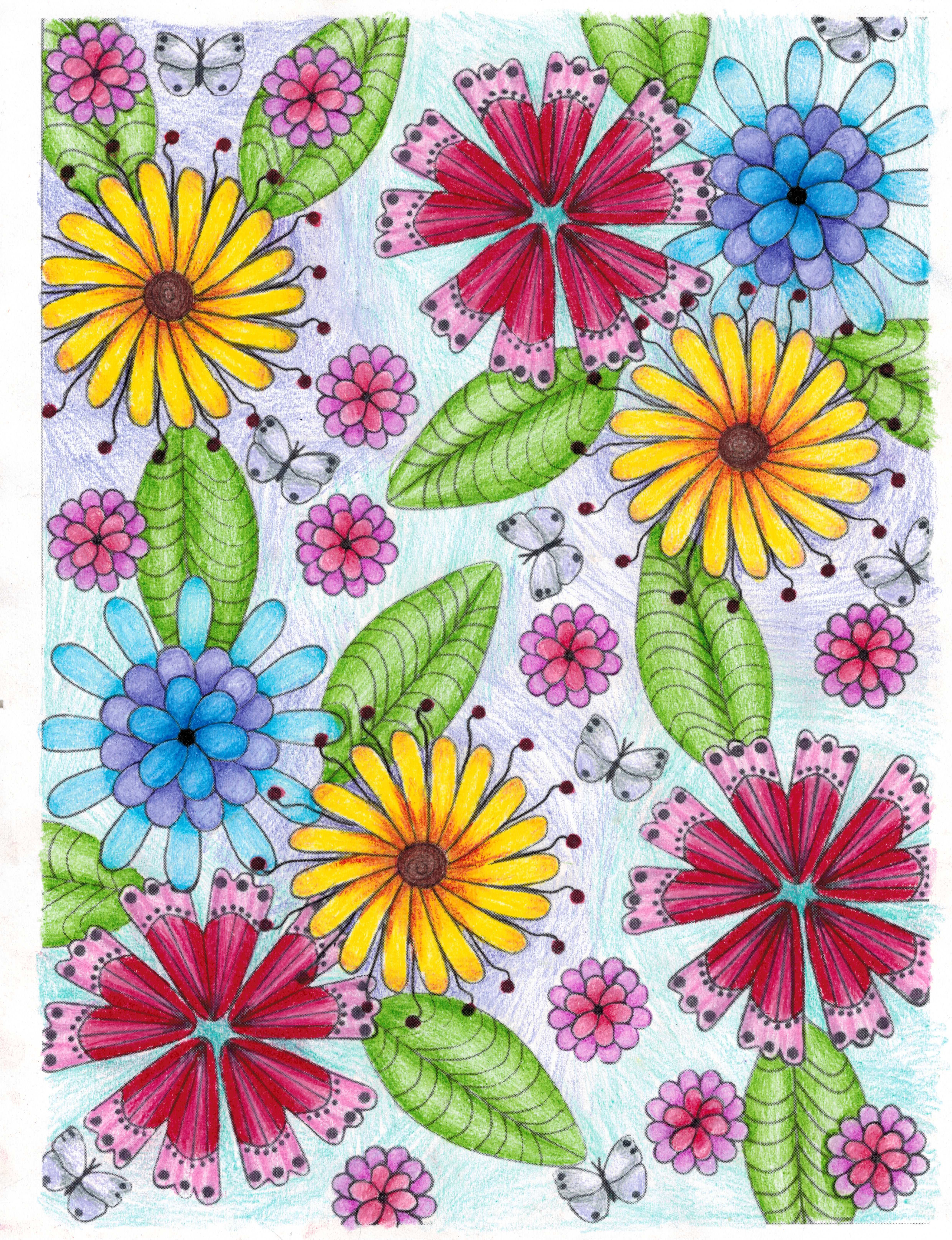 Abby (12-18 division) from Garden Party! Flower Designs to Color ...
