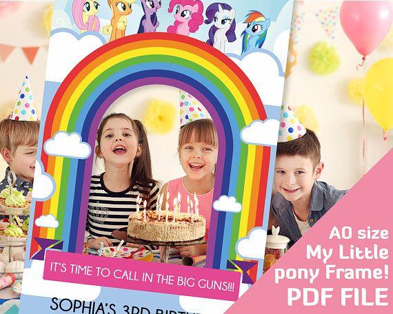 Little Pony Photo Booth Frame Decor Pinkie Pie Rainbow Dash