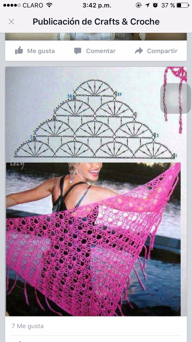 Puntada crochet | Ganchet i patchwork | Pinterest | Puntadas, Chal y ...