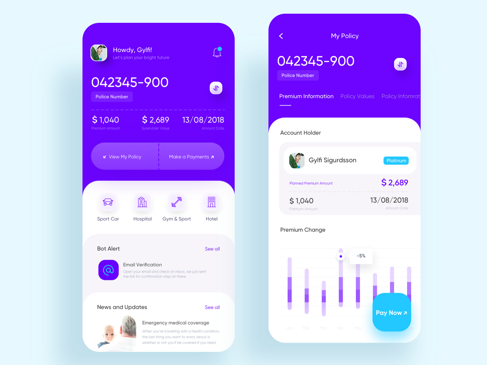 Insurance App For Better Life Life And Health Insurance Better Life Design