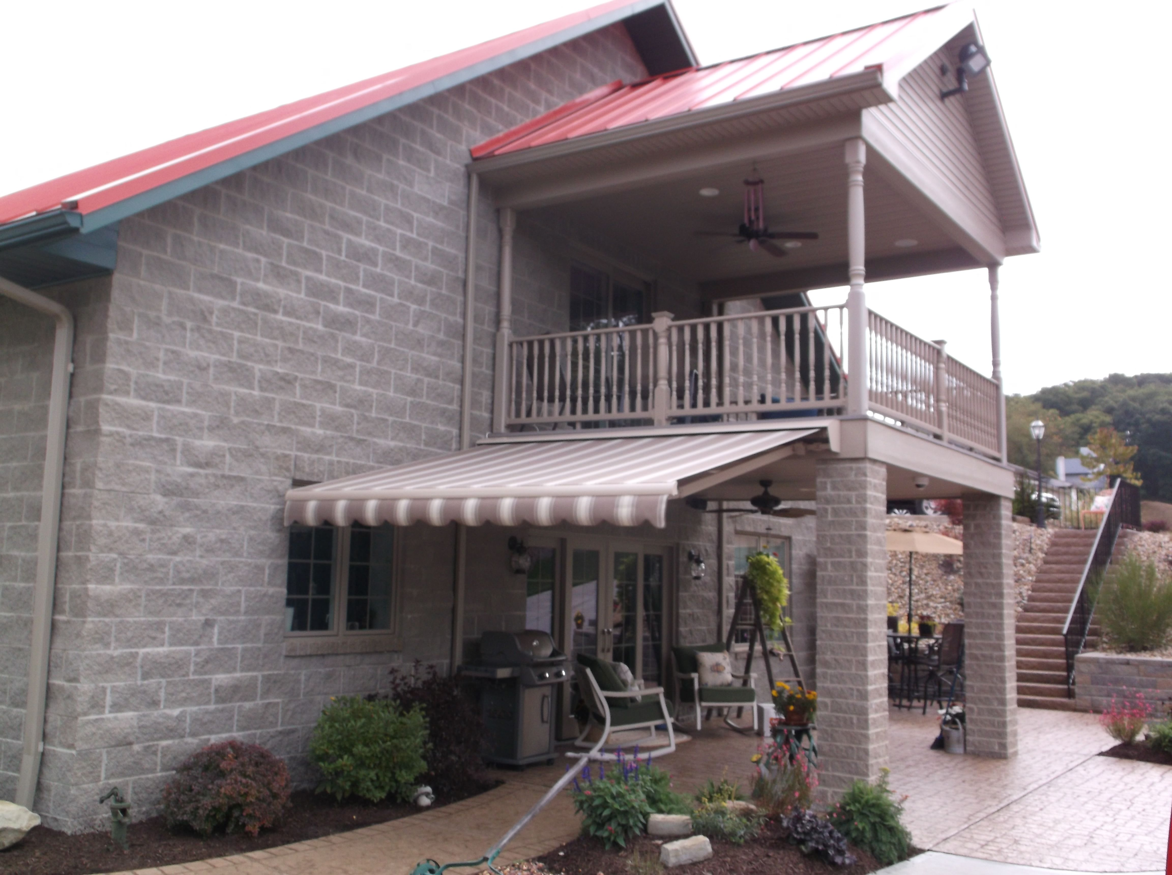 Sunair Retractable Awning Over Back Corner Patio!