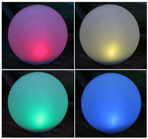 Solar Garden Globe Light Large Color Changing LED Centerpiece