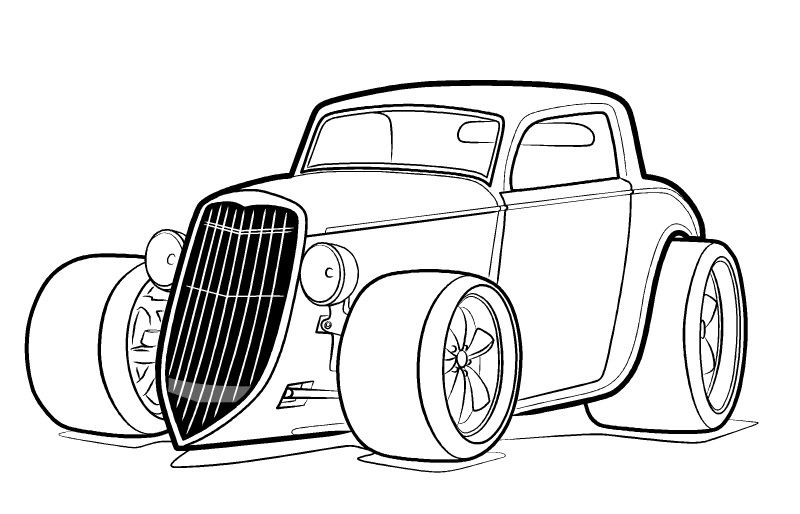 hotrod coloring pages - photo#28